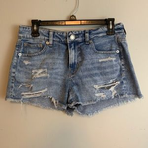 American eagle jeans tomgirl shortie shorts